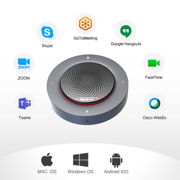 Halo 30 Speakerphone_WORKS WITH LEADING UC PLATFORMS