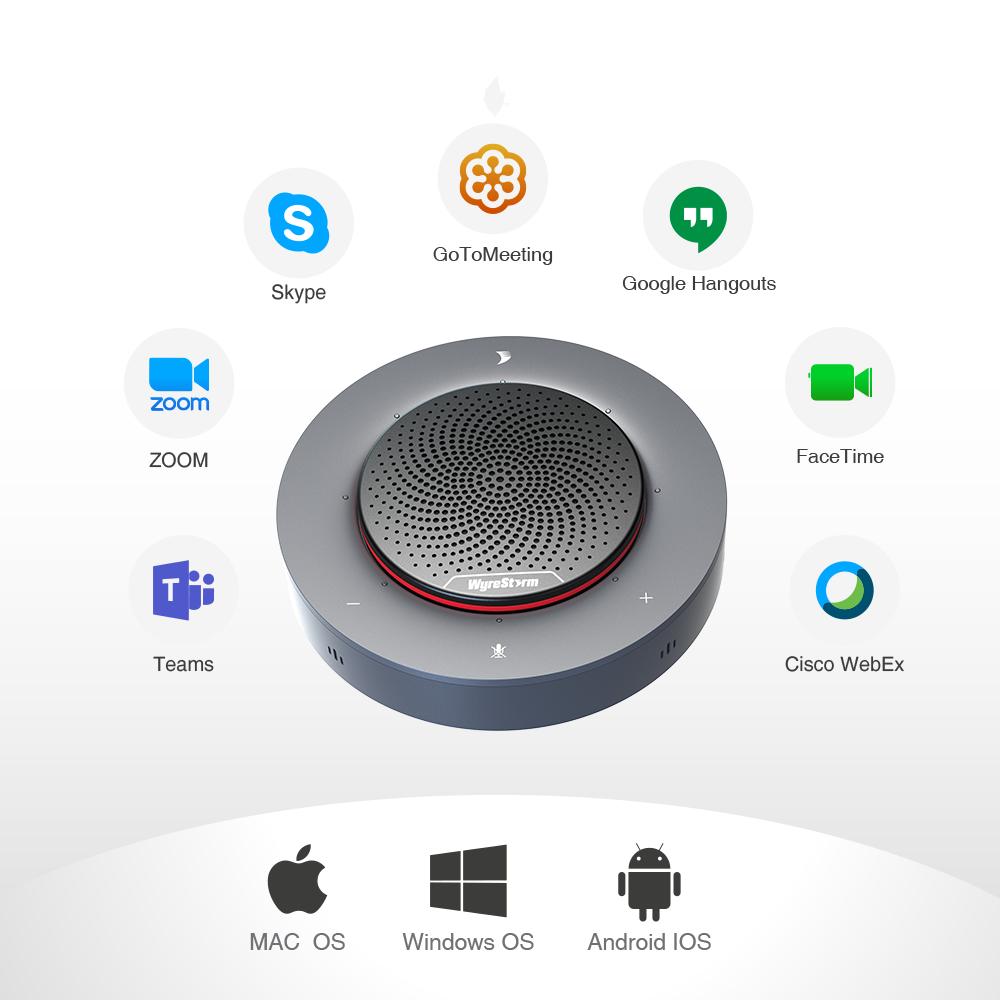 Halo 90 Speakerphone_WORKS WITH LEADING UC PLATFORMS